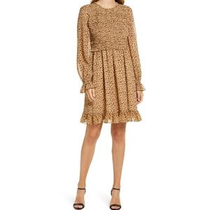 RACHEL PARCELL  Smocked Ruffle Dress Small